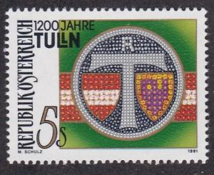 Austria # 1540, City of Thulin, 1200th Anniversary, NH, 1/2 Cat.
