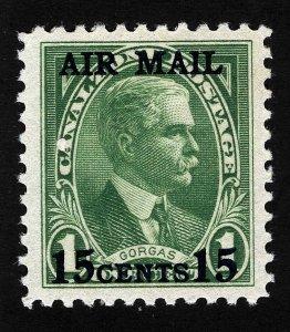 Canal Zone Sc C2 Green 15¢ Overprint 1¢ Type II MNH Original Gum GEM *Oak Lot