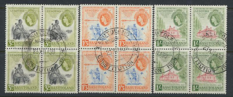 Basutoland / Lesotho  SG 55 / PO cancel Blocks of 4  - National Council