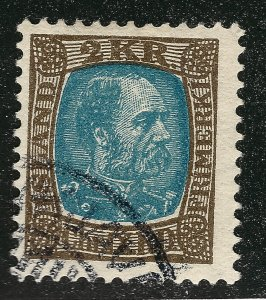 Iceland Attractive Sc#44a Used F-VF SCV $87.50...Key bargain!!