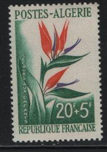 ALGERIA, B95, MNH, 1958, Bird-of-paradise-flower