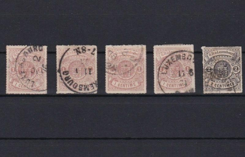 LUXEMBOURG 1859 ROULETTE STAMPS CAT £75+  REF 5687