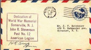 1932, Dedication of World War Memorial, Somerville, NJ (D14538)
