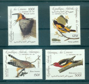 Comoro Is. - C139-42. 1985 Birds, Audubon. MNH. $10.00.