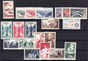 French Morocco -Mint NH, 8 complete sets (Catalog Value $48.25)