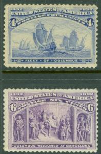 EDW1949SELL : USA 1893 Scott #233, 35 Mint Original Gum. Fresh stamps. Cat $110