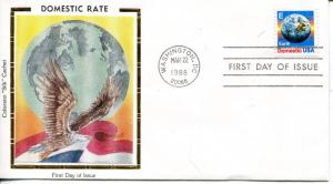 US FDC Scott #2277 Earth. Colorano Cachet. Free Shipping