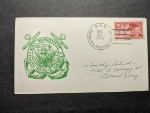 USS FRANKLIN D. ROOSEVELT CVB-42 Naval Cover 1949 Navy Day Cachet