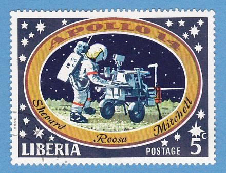 Liberia 550 CTO HR - Apollo 14 Moon Landing