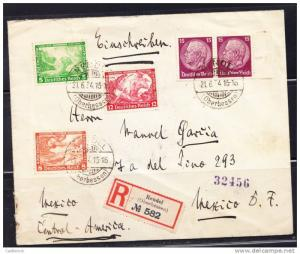R)1932 GERMANY REICH CIRCULATED COVER MULTIPLE GERMANY TO ME