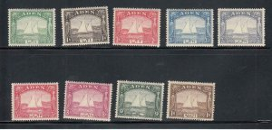 ADEN # 1-9 VF-MNH DHOWS CAT VALUE $134