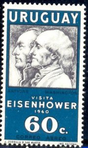 President Eisenhower's Visit, Uruguay stamp SC#C205 MNH