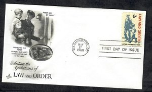 1343 Law and Order Unaddressed ArtCraft FDC