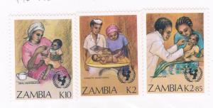 Zambia 441-43 MNH short set UN Child survival 1988 (Z0002)