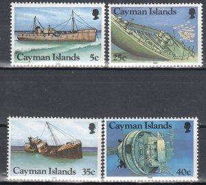 Cayman Islands, Sc 539-542 (2), MNH, 1985, Shipwrecks found