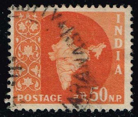 India #313 Map of India; Used (0.25)