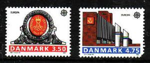 Denmark-Sc#914-15-Unused Europa NH set-#915 has pulled perf bottom right corner-