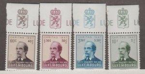 Luxembourg Scott #B143-B146 Stamps - Mint Set