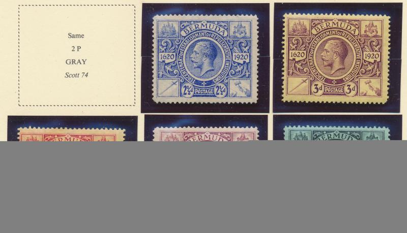 Bermuda Stamp Short Set Scott #75-9, Mint Hinged