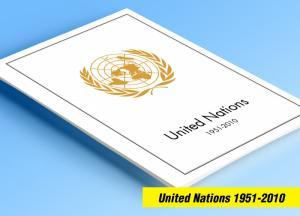 COLOR PRINTED UNITED NATIONS 1951-2010 STAMP ALBUM PAGES (373 illustr. pages)