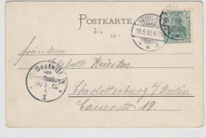 German Postal History Stamps Postcard Ref: R4973
