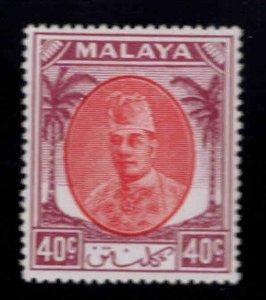 MALAYA Kelantan Scott 60 MH*1951 Sultan Ibrahim stamp