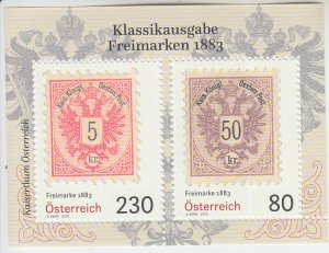 2019 Austria Stamps of 1883 S.O.S. SS (Scott NA) MNH
