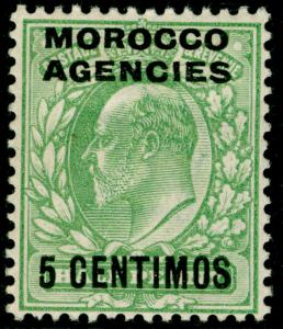 MOROCCO AGENCIES SG112, 5c on ½d pale yellowish green, M MINT. Cat £14.