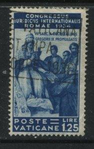 Vatican 1935 1.25 lire dark blue used