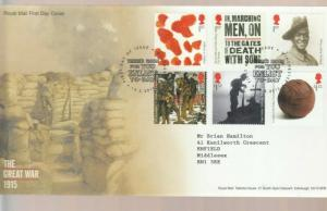 2015 THE GREAT WAR 1915 FDC. DECORATIVE WINCHESTER CANCEL