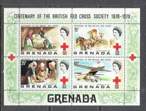 Grenada 398a MNH 1970 Red Cross S/S (ap7235)