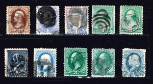 US STAMP 19TH OLD USED STAMPS  COLLECTION LOT #3