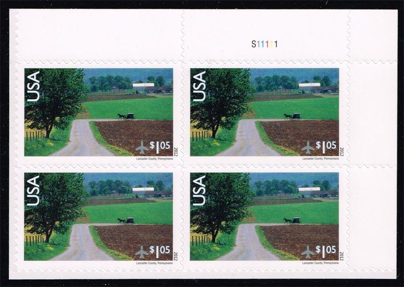 US #C150 Lancaster County P# Block of 4; MNH (8.40)