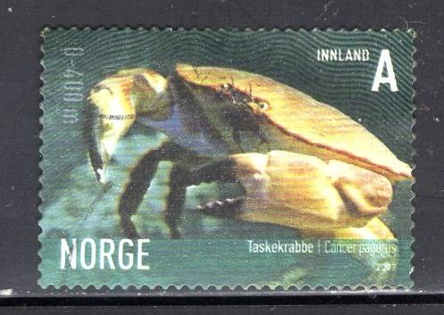 Norway  #1512  2007  used  marine life  (VI) cancer  A