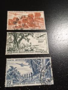 French Equatorial Africa sc C31-C33 u comp set