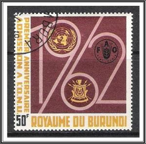 Burundi #61 UN Agency Emblems CTO NH