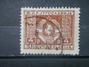 YUGOSLAVIA, 1946, used 4d, OFFICIAL, Scott O5