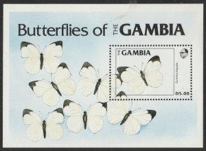 Gambia #537 MNH Souvenir Sheet cv $12.50