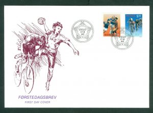 Norway. FDC Cachet 1993  World Championsh. Team Handball,Bicycling Sc# 1040-1041