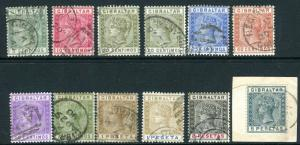GIBRALTAR-1889-96  A fine used set to 5p, top value on small piece Sg 22-33