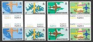 FALKLAND ISLANDS SG360/3 1979 STANLEY AIRPORT GUTTER PAIRS MNH