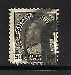 CANADA, 120,  USED, KING GEORGE V