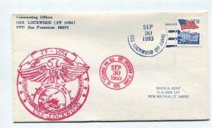 US Naval Ship Cover - USS LOCKWOOD (FF 1064) - 1993