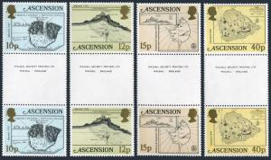 Ascension 290-293 gutter,MNH.Michel 291-294. Maps 1981.Ships.