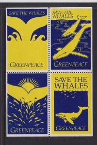 CINDERELLAS STAMPS ON GREENPEACE  (4) LOT#C-132