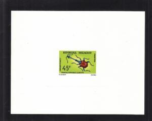 1966, Malagasy: Sc# 384, Weevil, MNH, Die Proof (S14646)