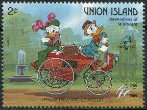 St. Vincent and the Grenadines 1989. Car Panhard - Levassor (MNH OG) Stamp