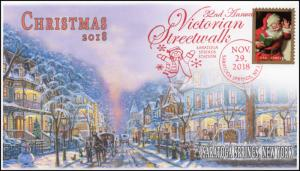 18-329, 2018, Christmas, Pictorial Postmark, Event Cover, Victorian Streetwalk,