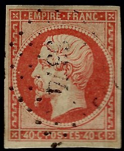 France Sc #18a Used F-VF hr SCV$20...French Stamps are Iconic!