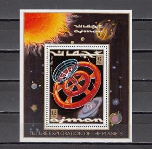 Ajman, Mi cat. 970, BL294 A. Space Station s/sheet. ^